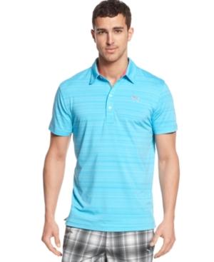 Puma Golf Shirt Barcode Stripe Polo Shirt