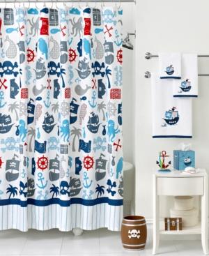 Kassatex Bath Accessories, Pirates Shower Curtain Bedding