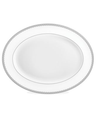 Waterford Lismore Lace Platinum Oval Platter