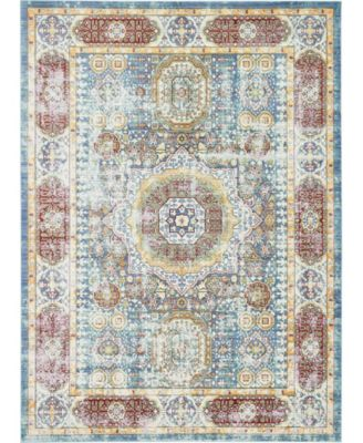 Malin Mal1 Blue 8' x 8' Square Area Rug