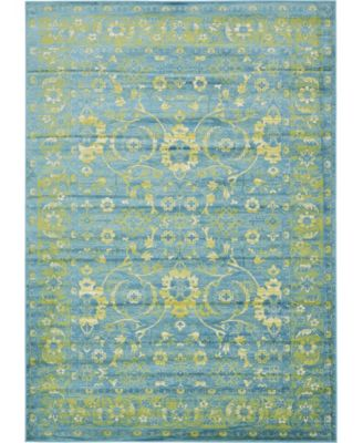 Linport Lin3 Blue 5' x 8' Area Rug
