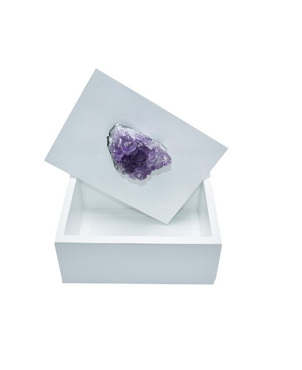 Nature's Decorations - Jewelry Box with Amethyst