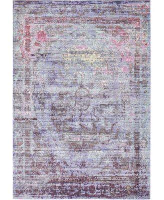 Malin Mal1 Violet 8' x 8' Square Area Rug