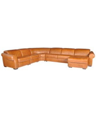 Lyla Leather Curved Sectional Sofa 5 Piece Curved Chair