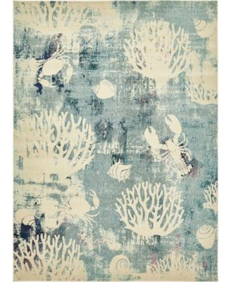 Ikbal Ikb3 Light Blue 9' x 12' Area Rug