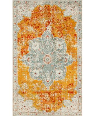 Mishti Mis8 Orange 5' x 8' Area Rug