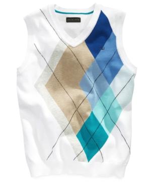 Sean John Kids Vest Boys Desert Argyle Sweater Vest