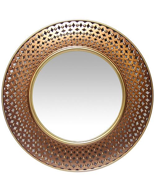 Infinity Instruments Round Wall Mirror Reviews All Mirrors Home Decor Macy S