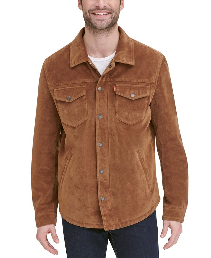 Levi's - Men's Faux Suede Shirt Jacket