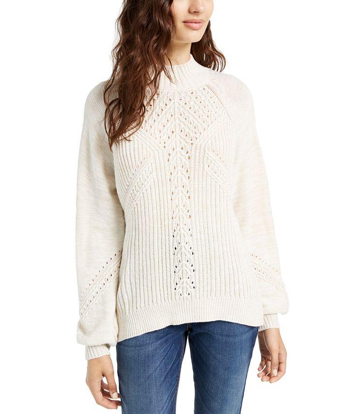 American Rag - Juniors' Balloon-Sleeve Sweater