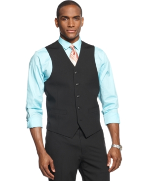 Sean John Vest Black Solid