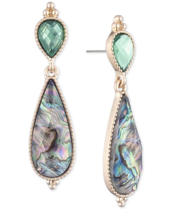 lonna & lilly - Gold-Tone Stone Double Drop Earrings