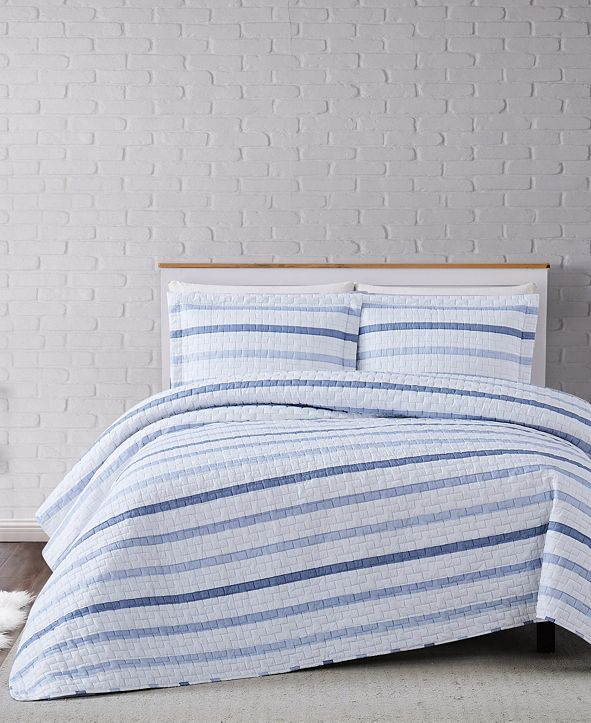 Truly Soft Waffle Stripe 3-Piece Comforter Set - King