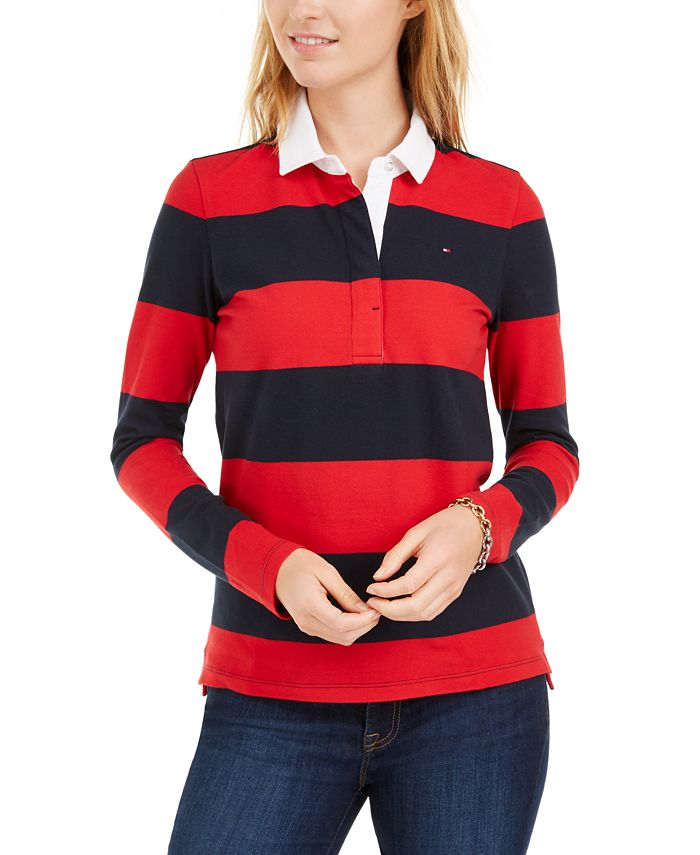 Tommy Hilfiger Striped Rugby Polo Shirt, Created for Macy's ...