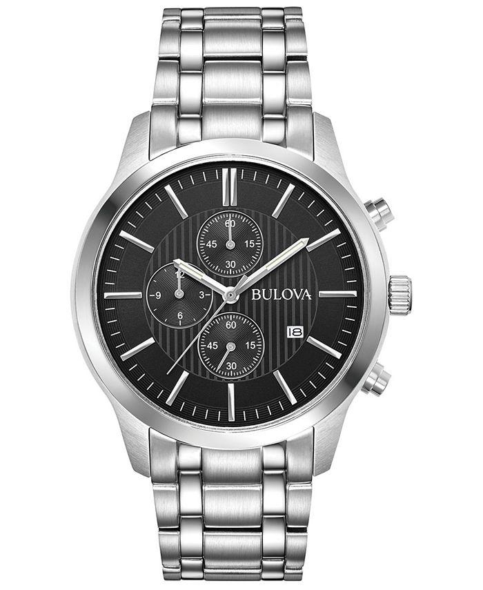 Bulova - Men's Chronograph Sport Stainless Steel Bracelet Watch 43mm