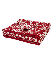 Glitzhome Knitted Throw Blanket