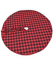 "Manor Luxe Holiday Plaid Tree Skirt 56"" Round"