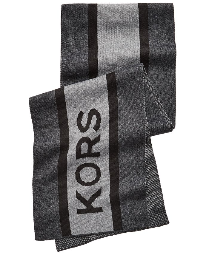 Michael Kors - Men's Striped Logo Scarf