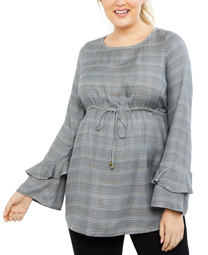 Motherhood Maternity - Maternity Bell-Sleeve Top