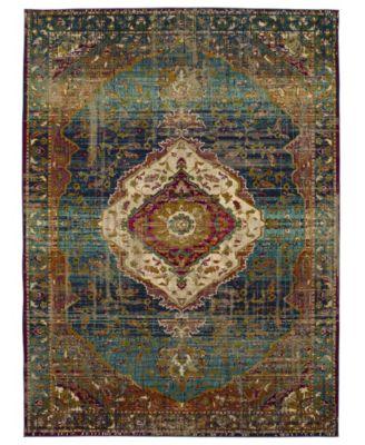 Meraki Solace Peacock 8' x 11' Area Rug
