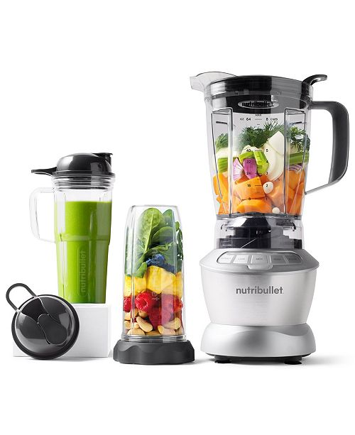 Nutribullet 1200w Blender Combo With Single Serve Cups Created For Macy S Reviews Small Appliances Kitchen Macy S