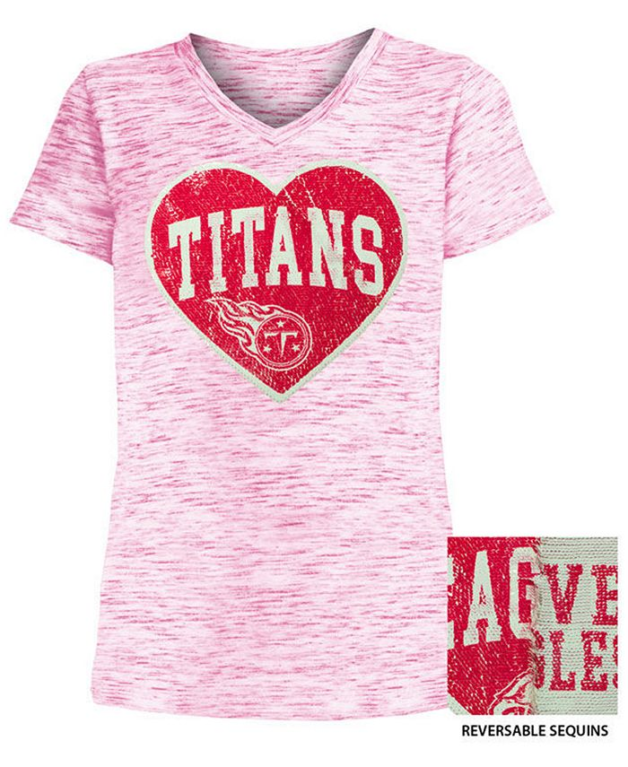5th & Ocean - Big Girls Heart Flip Sequin T-Shirt