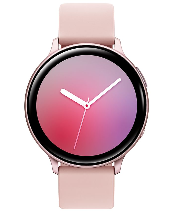Samsung - Unisex Galaxy Active 2 Blush Silicone Strap Touchscreen Smart Watch 44mm