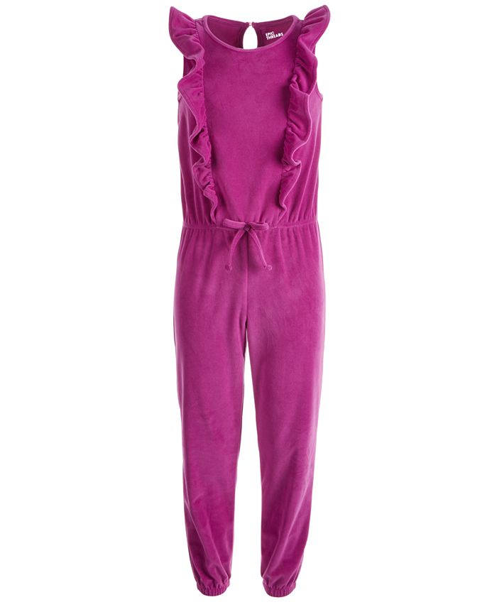 Epic Threads - Big Girls Ruffled Velour Jumpsuit