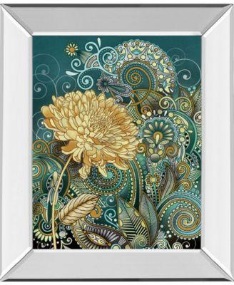 "Inspired Blooms 1 by Conrad Knutsen Mirror Framed Print Wall Art - 22"" x 26"""