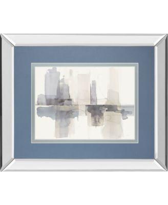 "Improvisation Il Gray Crop by Mike Schick Mirror Framed Print Wall Art - 34"" x 40"""