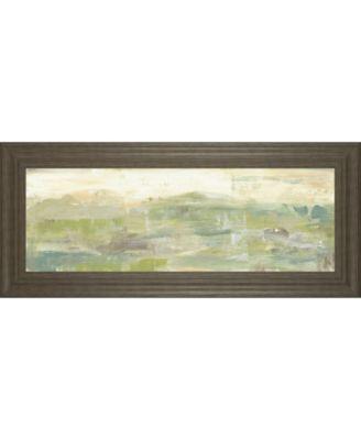 "Greenery Horizon Line III by Jennifer Goldberger Framed Print Wall Art - 18"" x 42"""