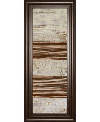 "White Stripes Il by Natalie Avondet Framed Print Wall Art - 18"" x 42"""