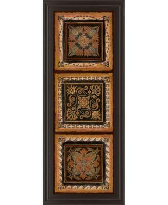 """Folk Art Panel Il by Tava Studios Framed Print Wall Art - 18"""" x 42"""""""