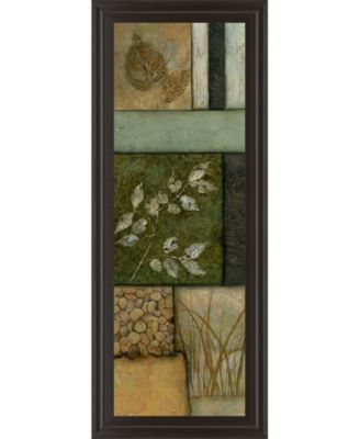 """Elements of Nature Il by Norm Olson Framed Print Wall Art - 18"""" x 42"""""""
