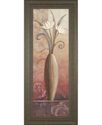 """Flower in Vase II Framed Print Wall Art - 18"""" x 42"""""""