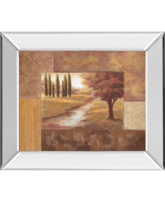 "Peaceful Stream Il by Vivian Flasch Mirror Framed Print Wall Art - 22"" x 26"""