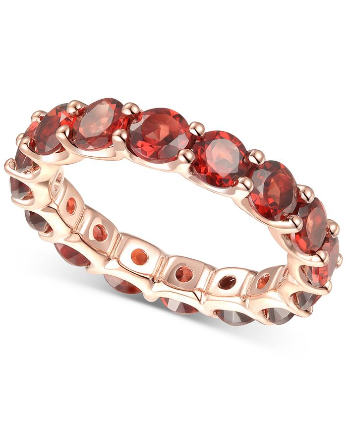 Macy's - Rhodolite Garnet Eternity Band (2-5/8 ct. t.w.) in 14k Rose Gold-Plated Sterling Silver(Also Available In Amethyst, Blue Topaz, Multi, Citrine, and Lab Created Opal)