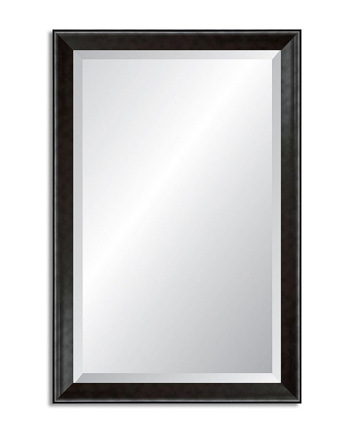 Reveal Frame & Décor - Modern Smoked Pewter Beveled Wall Mirror