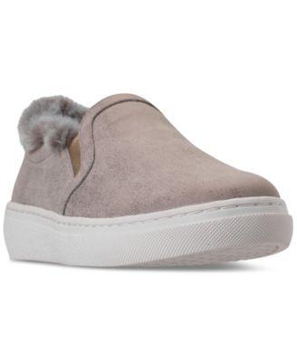 Goldie Faux-Fur Slip-On Casual Sneakers