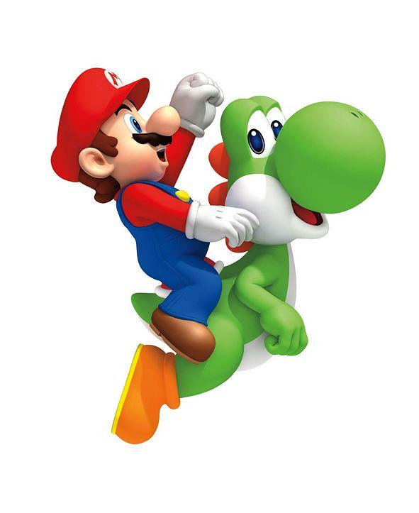 York Wallcoverings Nintendo- Yoshi/Mario Peel and Stick Giant Wall Decals