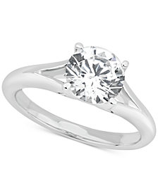 GIA Certified Diamond Solitaire Engagement Ring (1-1/2 ct. t.w.) in 14k White Gold
