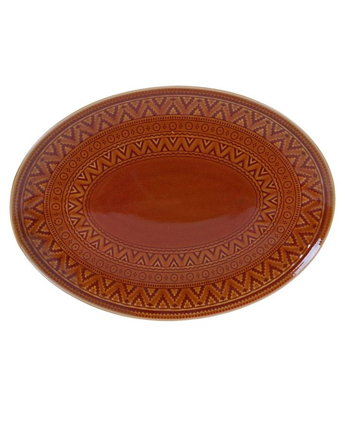 Certified International - Aztec Rust Oval Platter