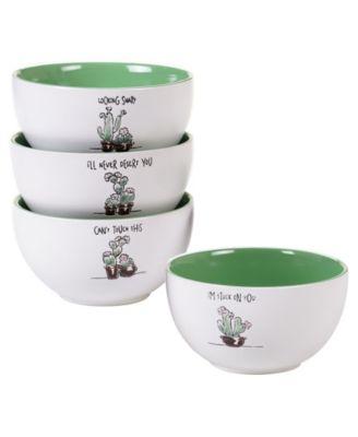 Desert Bloom 4-Pc. Ice Cream Bowls