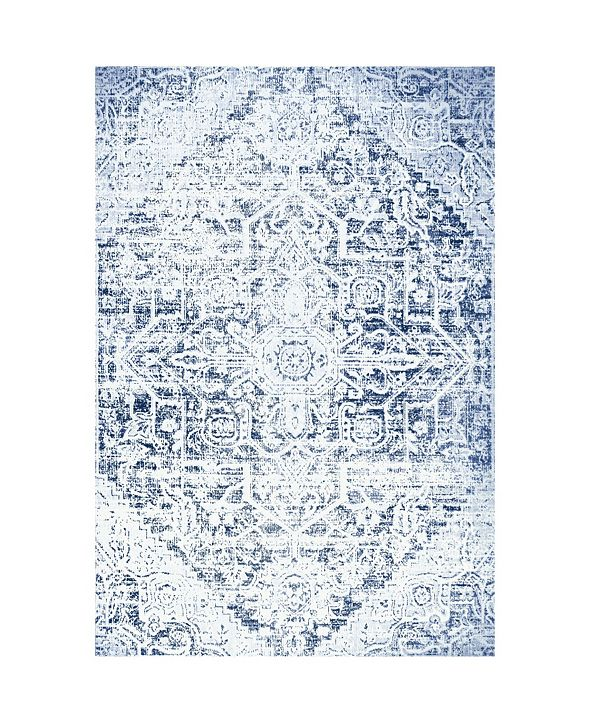 Nicole Miller  Patio Sofia Fleur Dark Blue Area Rug Collection