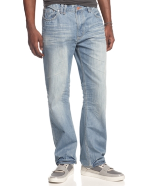 Sean John Jeans Hamilton Asymmetrical Embroidery Relaxed Fit Jeans