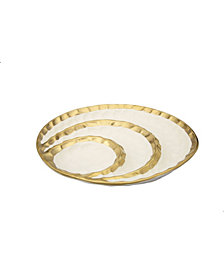 Classic Touch Porcelain Round Relish Dish