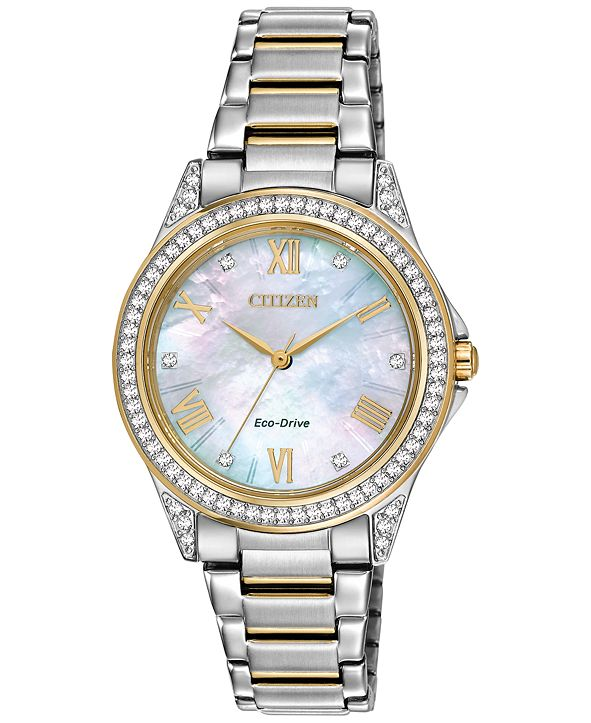 Citizen Drive From Eco-Drive Women's Two-Tone Stainless Steel Bracelet Watch 34mm
