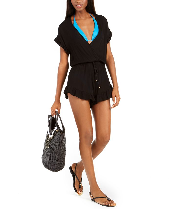 Dotti - Treasure Ruffle-Trim Romper Cover-Up, Created For Macy's