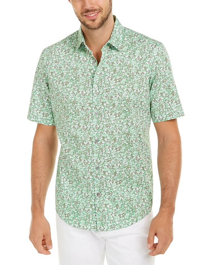 Alfani - Men's Classic-Fit Lizard-Print Shirt