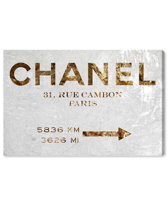 "Oliver Gal Couture Road Sign Canvas Art, 24"" x 16"""